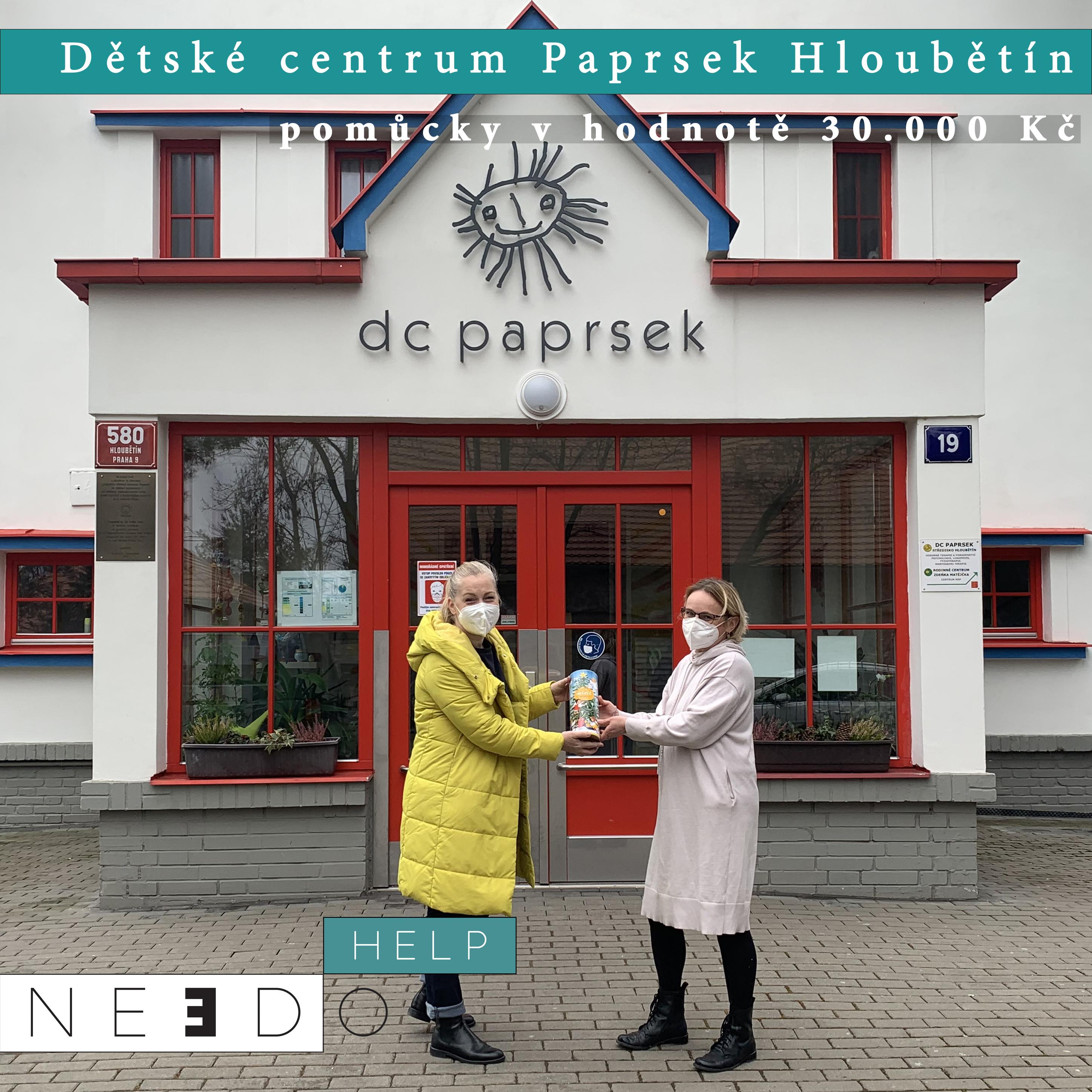Pomoc pro DC Paprsek Hloubětín Praha