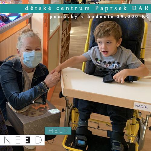 Pomoc pro DC Paprsek DAR Praha