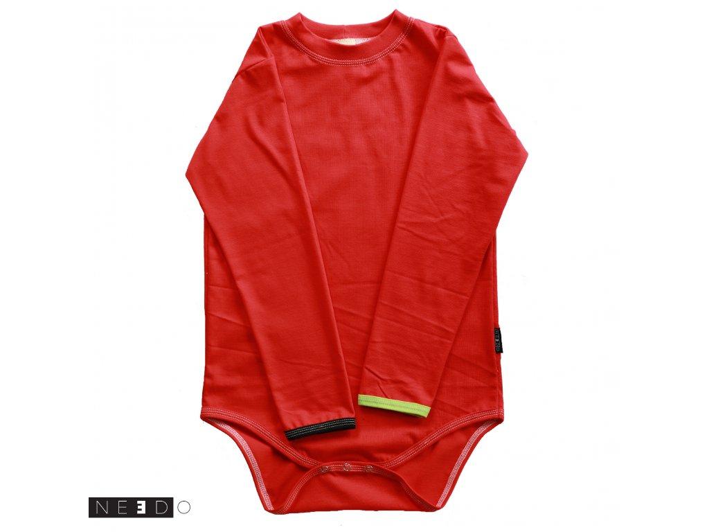 Needo triko dlouhy rukav cervene