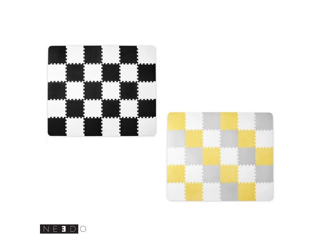 puzzle cerne zlute