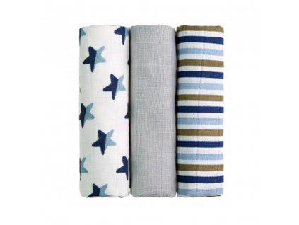Ttomi bavlnene pleny modre hvezdy needo