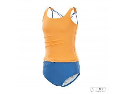 divci plavky inkontinence oranzove