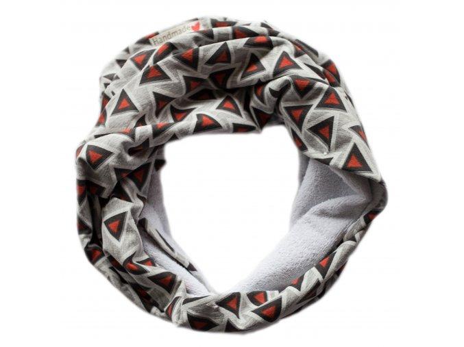Needo Bryndák pro postižené - šála (šedá s trojúhelníky)