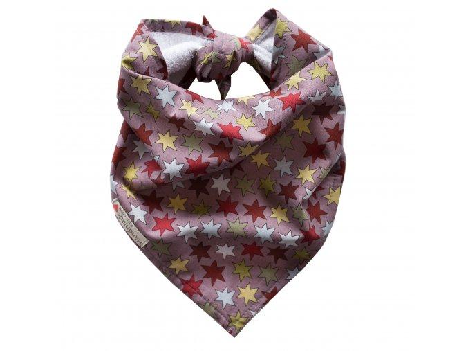 Needo Bryndák pro postižené - šátek (hnědý s hvězdami)