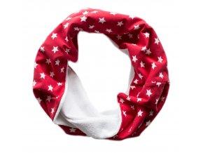 Needo Bryndák pro postižené - šála (červená s hvězdami)