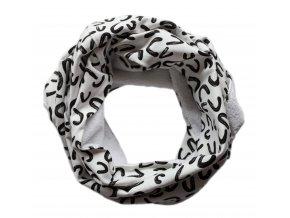 Needo Bryndák pro postižené - šála (bílá s černým vzorem)