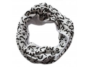 Needo Bryndák pro postižené - šála se šňůrkou (bílá s černým vzorem)