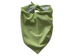 Needo Bryndák pro postižené - šátek (zelený se srdíčky)