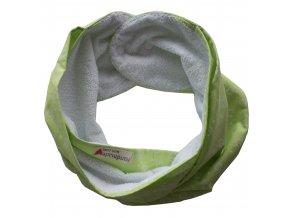 Needo Bryndák pro postižené - dvojitá šála (zelená se vzorem)