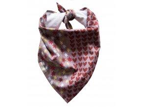 Needo Bryndák pro postižené - šátek (hnědý s hvězdičkami a srdíčkami)