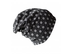 Čepice - černá z BIO bavlny (vel.M)