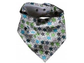 Needo Bryndák pro postižené - šátek (bílý s hvězdami)