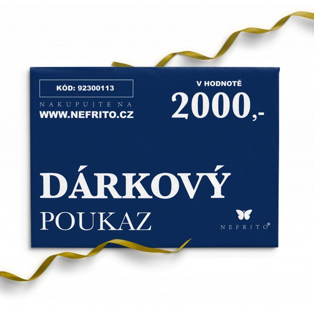 dárkový poukaz 2000 voucher