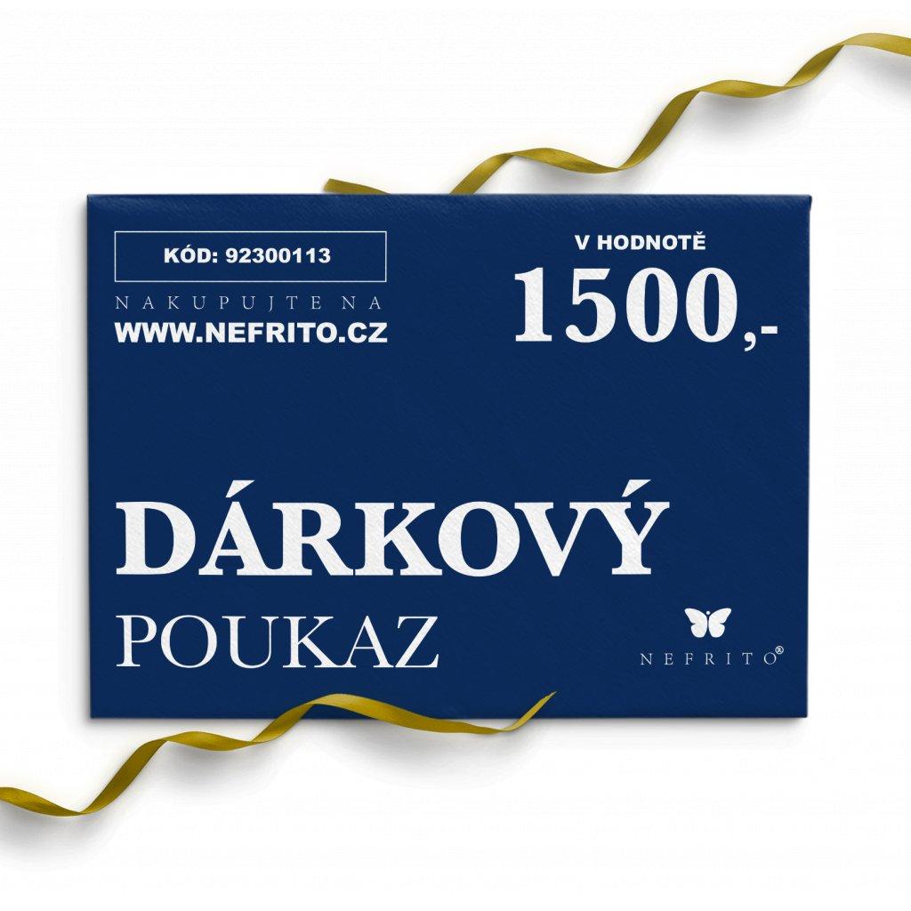 dárkový poukaz 1500 voucher