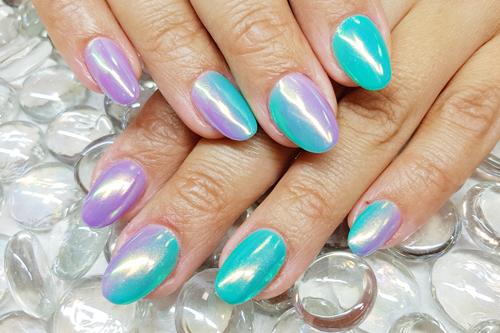 Gelové nehty pigment Aurora