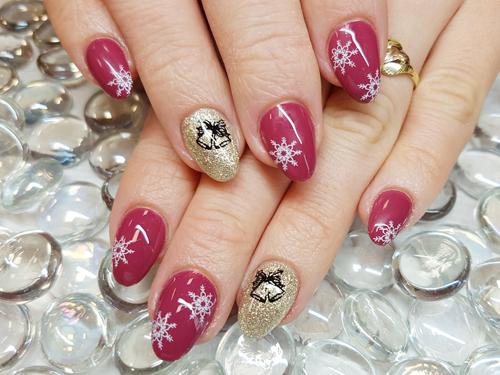 Vánoční gelové nehty