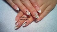 Gelové nehty francie malované 10