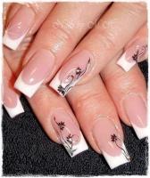 Gelové nehty francie malované 11