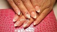 Gelové nehty francie malované 12
