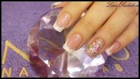 Gelové nehty francie malované 15