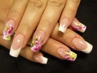 Gelové nehty francie malované 16