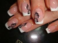 Gelové nehty francie malované 21