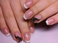 Gelové nehty francie malované 22