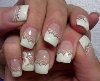 Gelové nehty francie malované 25