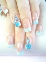 Gelové nehty francie malované 26