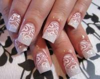 Gelové nehty francie malované 29