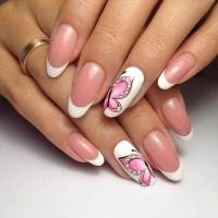 Gelové nehty francie malované 30