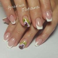 Gelové nehty francie malované 31