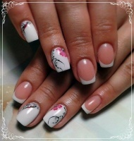 Gelové nehty francie malované 32
