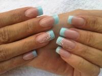 Gelové nehty francie barevné 11