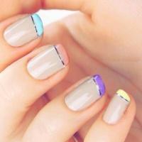 Gelové nehty francie barevné 14