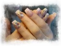 Gelové nehty francie barevné 1