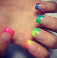 Gelové nehty francie barevné 21