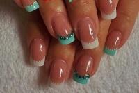 Gelové nehty francie barevné 5