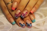 Gelové nehty francie barevné 6