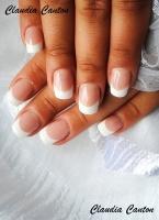 Gelové nehty francie bílá 3