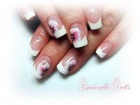 Gelové nehty francie malované 1