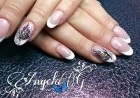 Gelové nehty francie malované 2