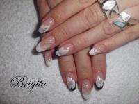 Gelové nehty francie malované 3