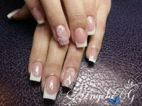 Gelové nehty francie malované 5