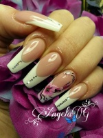 Gelové nehty francie malované 6