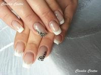 Gelové nehty francie malované 8