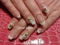Gelové nehty francie malované 9