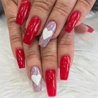 Valentýnské gelové nehty