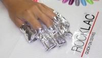 Odstraneni gel laku Rocklac aplikace folie s off removerem na nehty