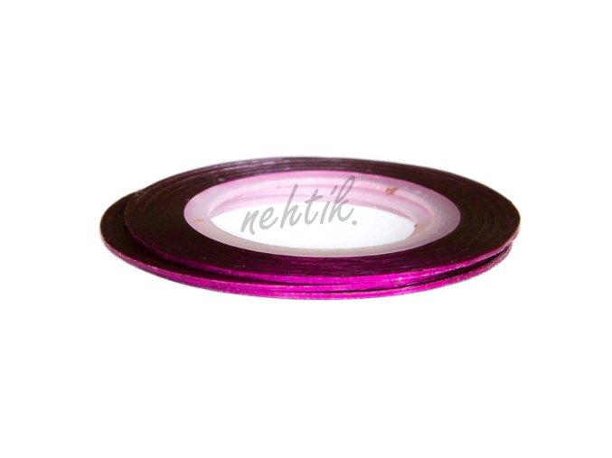 Zdobení - Nail Art pásek růžový hologram
